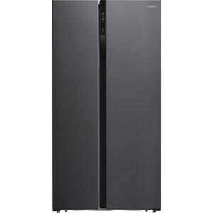 Холодильник Hyundai CS5003F черная сталь