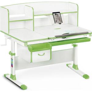Детский стол Mealux Evo-50 (EVO-50) Z - столешница белая / ножки белые с зелеными накладками