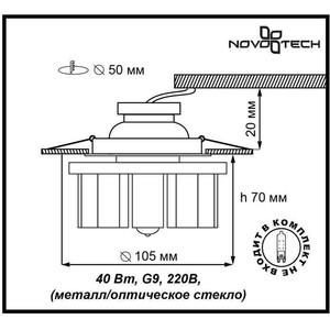 Точечный светильник Novotech 369354 цена
