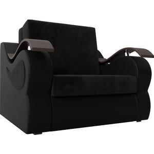 цена на Кресло-кровать АртМебель Меркурий велюр черный экокожа черный (80)