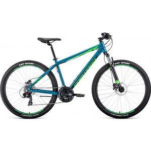 Велосипед Forward Apache 3.0 Disc 27.5 (2020) 19 бирюзовый/светло-зеленый велосипед forward apache 1 0 2017