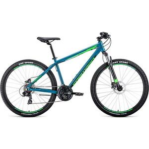 Велосипед Forward Apache 3.0 Disc 27.5 (2020) 21 бирюзовый/светло-зеленый