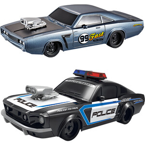 Набор из двух радиоуправляемых машин Yuan Di Police Chase 1:20 - YD898-MJ1995A радиоуправляемый мотоцикл yuan di трицикл 1 10 t54