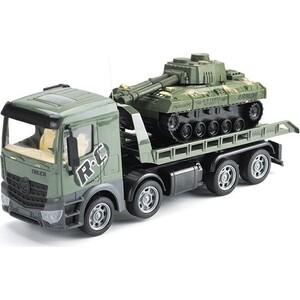 Zhoule Toys Радиоуправляемый грузовик-трейлер + танк CityTruck 1:24 - 553-B3