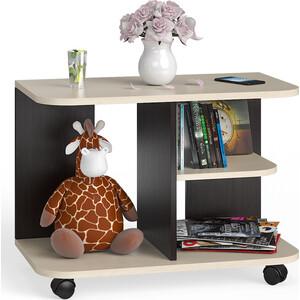Стол журнальный Мебельный двор С-МД-СЖ-11 венге/дуб на колесиках стол журнальный сокол сж 4 венге