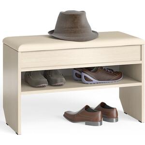 Тумба для обуви Мебельный двор С-МД-ТО-10 дуб с нишей и мягким сиденьем