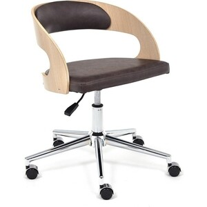 Кресло TetChair Jazz дуб кож/зам коричневый 4230 стул tetchair stamford 828 s дуб в красноту