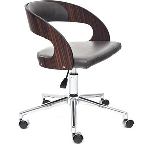 Кресло TetChair Jazz палисандр кож/зам черный 4231 кресло tetchair iwheel кож зам черный красный