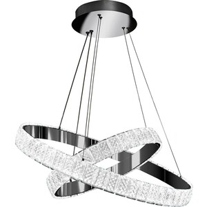 Светильник iLedex Подвесной светодиодный Crystal ice MD7212-60A CR crystal light светильник подвесной yagodans цвет металлический 18х30 см