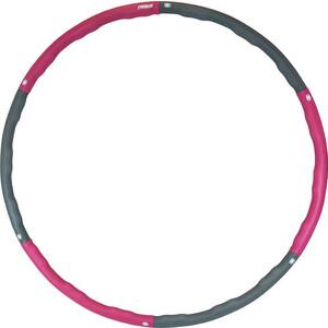 Обруч массажный ProRun 4867 розовый/серый