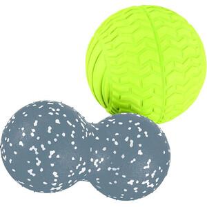 Набор мячей Ecowellness массажных 2 шт. 23 см и 13