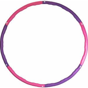 Обруч массажный ProRun разборный с покрытием из неопрена диаметр 98 см фиолетовый