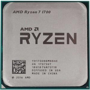Процессор AMD AMD Ryzen 7 1700 OEM (3.7GHz, 20MB, 65W, AM4) цена 2017