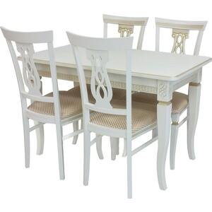 Набор мебели для кухни Leset Дакота 1Р слоновая кость + патина золото