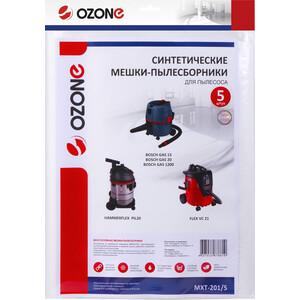 Фильтр для пылесоса Ozone совместимы с BOSCH, FLEX, HAMMER, 5 шт (MXT-201/5)