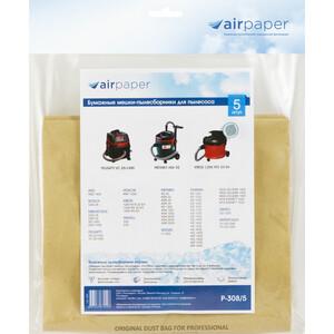 Фильтр для пылесоса Airpaper совместимы с BOSCH, KRESS, ИНТЕРСКОЛ, STARMIX, AEG, FELISATTI, HITACHI, METABO, 3 шт (P-308/5)