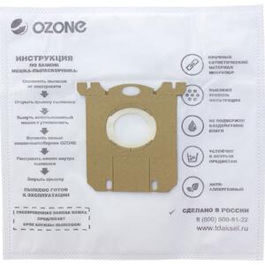 Мешки для пылесоса Ozone совместимы с ELECTROLUX, AEG, PHILIPS, TORNADO, VOLTA, ZANUSSI, тип оригинального мешка: S-Bag, 12 шт (XXL-02)
