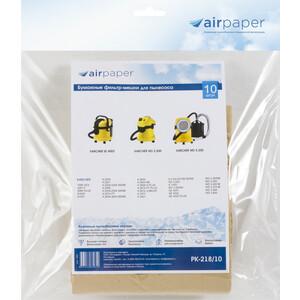 Фильтр для пылесоса Airpaper совместимы с KARCHER MV 3, WD 10 шт (PK-218/10)