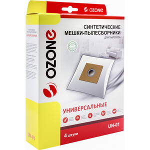 Фильтр для пылесоса Ozone многоразовые универсальные размер картона: 100 х 130 мм, диаметр отверстия: 40 мм 4шт (UN-01)
