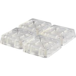 Антивибрационные подставки Ozone для стиральных машин и холодильников, прозрачные, квадратные (CMA-12T)
