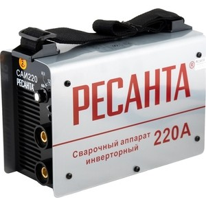 Сварочный инвертор Ресанта САИ 220 в кейсе инвертор сварочный ресанта саи 190к 190а
