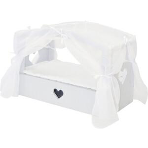 Кроватка с бельевым ящиком PAREMO Серии Любимая кукла, цвет Дрим, (PFD120-83)