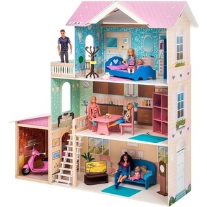 Кукольный дом PAREMO Розали Гранд (с мебелью), (PD318-11) paremo кукольный домик розали гранд с мебелью pd318 11 розовый голубой белый