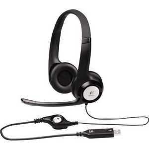 Logitech Stereo Headset H390, USB (981-000406) logitech stereo headset h390 usb 981 000406