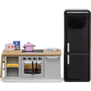 Набор мебели для домика Lundby Кухонный остров и холодильник, (LB_60201800)
