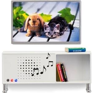 Мебель для домика Lundby музыкальный центр и телевизор белого цвета, (LB_60208200)