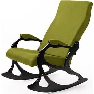 Кресло-качалка Мебелик Санторини ткань лайм/каркас венге