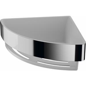 Угловая корзинка-полочка Inda Basket со съемной вставкой, хром/белая вкладка (AV231AAL13)