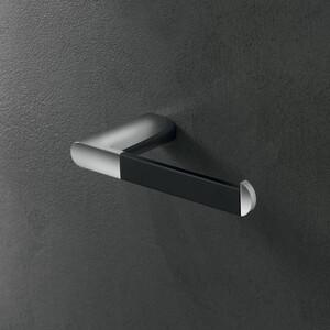 Держатель для туалетной бумаги Inda Mito черный матовый/хром (A2025ANC)