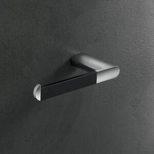 Держатель для туалетной бумаги Inda Mito правый, черный матовый/хром (A2025BNC)