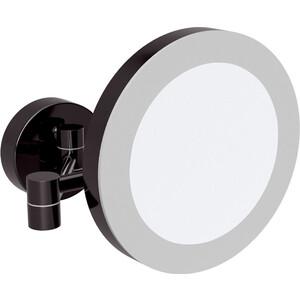 Зеркало косметическое Bemeta Dark x3 увеличение, с подсветкой, черный (116101770)