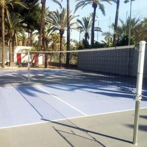 Сетка волейбольная El Leon De Oro арт. 14443020002, черн., 9.5х1м, нить 4мм ПП, стал. трос, черный