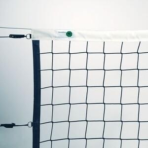 Сетка волейбольная El Leon De Oro арт. 14443035002, черн., 9.5х1м, нить 4мм ПП, стальной трос, черн.