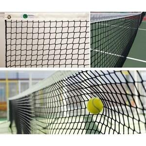 Сетка для большого тенниса El Leon De Oro арт. 13443004501, нить 3мм ПП, верх.лента ПП,черный