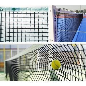 Сетка для большого тенниса El Leon De Oro арт. 13444004501, нить 4 мм ПП, верх.лента ПП, черный