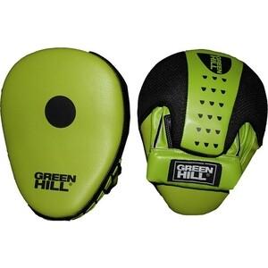 Лапы боксерские GREEN HILL арт. FM-5250, синт. кожа, зелено-черные
