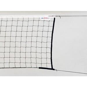 Сетка волейбольная Kv.Rezac трен., арт. 15935097400, черн., 9.5х1м, нить 2мм ПП, стал. трос