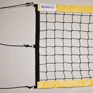 Сетка для пляжного волейбола Kv.Rezac арт. 15015898006,8,5х1м,3 мм ПП,ячейки 10х10 см, желтые .ленты ПВХ,кев.тр,чер