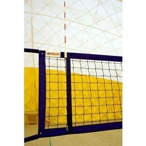 Сетка для пляжного волейбола Kv.Rezac арт. 15095029004,8,5х1м,3 мм ПП,ячейки 10х10см,син.ленты ПЭ,кев.трос,чер