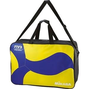 Сумка для волейбольных мячей Mikasa арт. AC-BG260W-YB, нейлон, на молнии, желто-синий 6