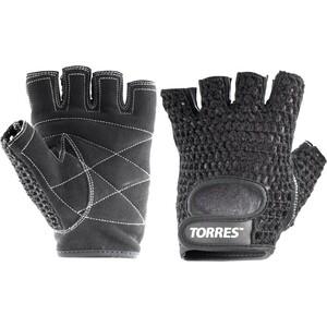 Перчатки для занятий спортом Torres арт. PL6045S, р. S, хлопок, нат. замша, подбивка 6 мм, черные