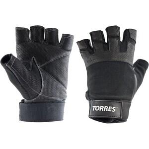 Перчатки для занятий спортом Torres арт. PL6051S, р. S, нейлон, нат.кожа, подбив.6мм, напульсник,чер