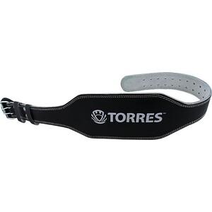 Пояс тяжелоатлетический Torres арт. PRL619018S, р. S (100 см), шир. 15 см, нат.прес.кожа, черный