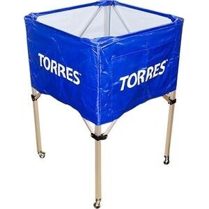Тележка для мячей Torres арт. SS11022, на 25-30 шт., сине-белая