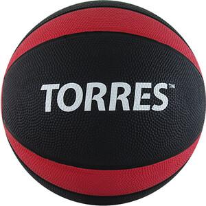 Медбол Torres 6 кг , арт. AL00226, резина, диаметр 23,8 см, черно-красно-белый
