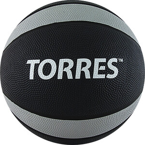 Медбол Torres 7 кг , арт. AL00227, резина, диаметр 23,8 см, черно-серо-белый